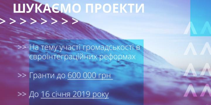 «Громадська синергія» оголосила конкурс проектів для громадських організацій на суму від 150 до 600 тисяч гривень